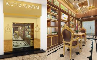 Interior View and Facade View of the Biotique Royal Store