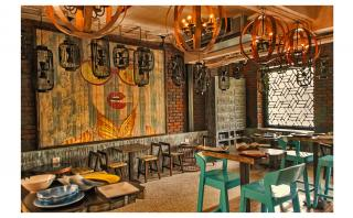 Restaurant Seating with Customised Artwork