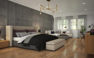 Artistic Impression of the Modern Minimalistic Master Bedroom