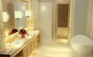 Artistic Impression of the Master Bathroom